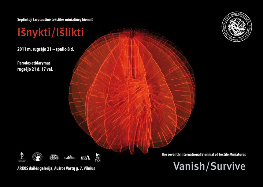 Vanich and survive, 2011, The 7th iInternational Biennal og Texrile Miniature Art, flyers