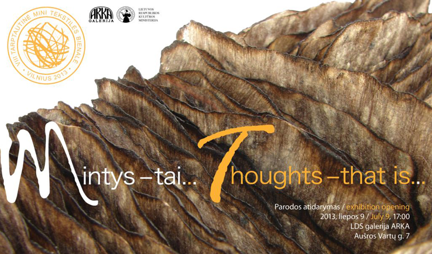 ‹Thoughts - that is›, 2013, flyers front site.